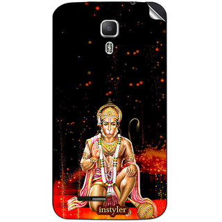Instyler Mobile Skin Sticker For Micromax Canvas Juice A77 MSMMXCANVASJUICEA77DS-10093 CM-3453