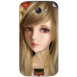 Instyler Mobile Skin Sticker For Micromax Canvas Elanga 2A121 MSMMXCANVASELANZA2A121DS-10068 CM-4868