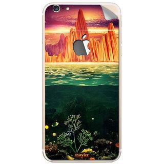 Instyler Mobile Skin Sticker For Apple I Phone 6Splus (Logo) MSIP6SPLUSLOGODS-10152 CM-7992