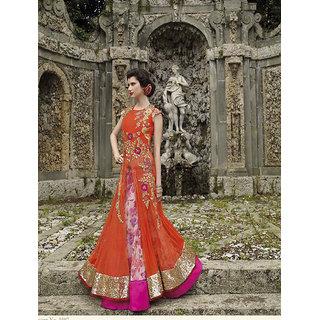 Thankar New Attractive Orange Anarkali Suit