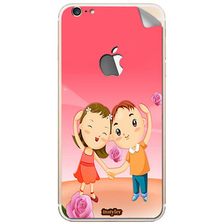 Instyler Mobile Skin Sticker For Apple I Phone 6Plus (Logo) MSIP6PLUSLOGODS-10056 CM-8536
