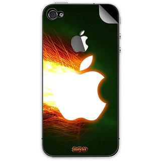 Instyler Mobile Skin Sticker For Apple I Phone 4 MSIP4LOGODS-1006 CM-9767