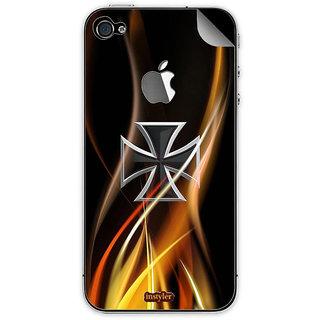 Instyler Mobile Skin Sticker For Apple I Phone 4S MSIP4SLOGODS-10155 CM-9755