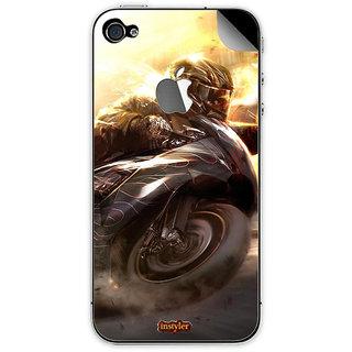 Instyler Mobile Skin Sticker For Apple I Phone 4S MSIP4SLOGODS-10036 CM-9636