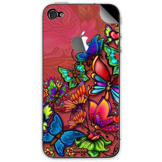 Instyler Mobile Skin Sticker For Apple I Phone 4S MSIP4SLOGODS-10043 CM-9643