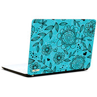 Pics And You Offbeat Flora Blue 3M/Avery Vinyl Laptop Skin Sticker Decal - TX064