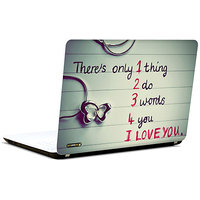 Pics And You Three Words 3M/Avery Vinyl Laptop Skin Sticker Decal-LV036