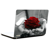 Pics And You Rose In Hand 3M/Avery Vinyl Laptop Skin Sticker Decal-LV004