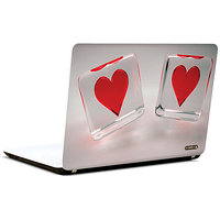 Pics And You Hearts On Dice Red 3M/Avery Vinyl Laptop Skin Sticker Decal-LV022