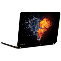 Pics And You Abstract Fire Heart 3M/Avery Vinyl Laptop Skin Decal-LV054
