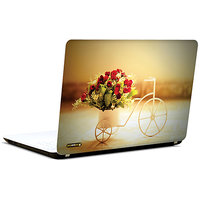 Pics And You Floral Wagon 3M/Avery Vinyl Laptop Skin Sticker Decal - FL027