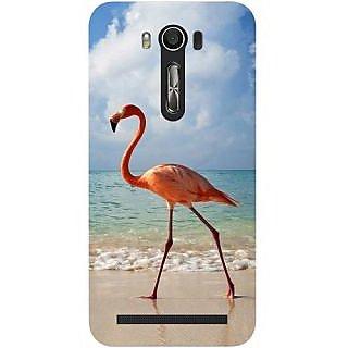 Casotec Egret Bird on Sea Design Hard Back Case Cover for Asus Zenfone 2 laser ZE500 KL