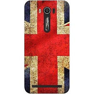 Casotec UK Flag Design Hard Back Case Cover for Asus Zenfone 2 laser ZE500 KL