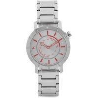Round Dial Silver Metal Strap Mens Quartz Watch