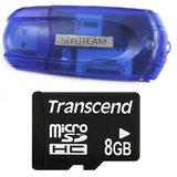 Transcend 8GB Micro SD Card + 43 in 1 Card Reader