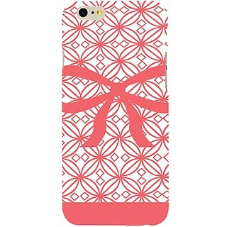 Casotec Pink Bow Design Hard Back Case Cover for Apple iPhone 6 / 6S
