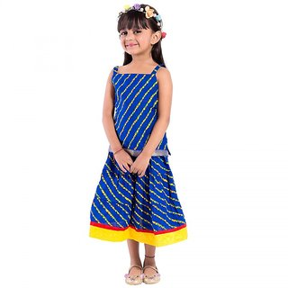 Deoct Striped Baby Girls Lahenga Choli