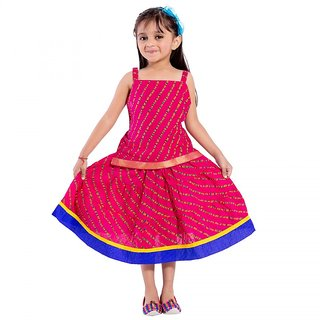 Decot Paradise Striped Baby Girls Lahenga Choli