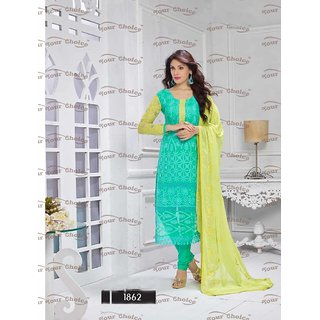 Thankar New Designer Sky Blue And Yellow Straight Suit
