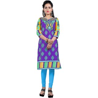 Nakoda Creation Cotton Unstitched Kurti For Women