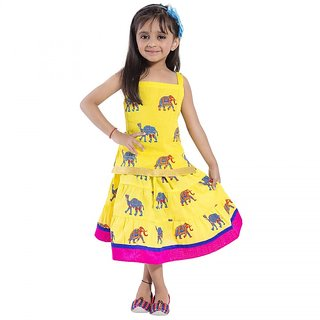 Decot Paradise Animal Print Baby Girls Lahenga Choli