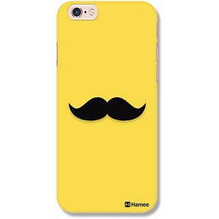 Customizable Hamee Original Designer Cover Thin Fit Crystal Clear Plastic Hard Back Case For Iphone 6 Plus / 6S Plus (Moustache / Yellow)