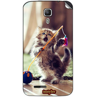 Instyler Mobile Skin Sticker For Micromax Canvas Juice A77 MSMMXCANVASJUICEA77DS-10018 CM-3378