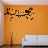 Kakshyaachitra Squirrel On The Branch Wall Stickers