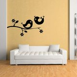 Kakshyaachitra Love Birds On The Branch Wall Stickers Design 1