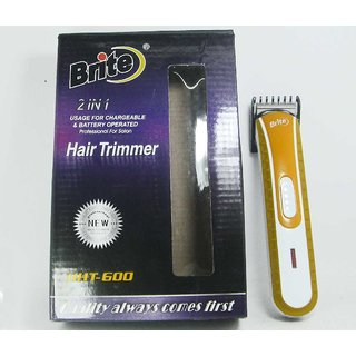 BRITE Professional Hair Trimmer excellent clipping for MEN rechargable NG-137