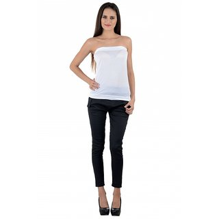 NumBrave Womens White Tube Top