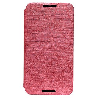 Jo Jo PU Rain Flip Cover Case With Stand For Motorola Nexus 6 Light Pink