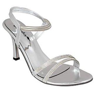 Bellafoz Silver  heeled sandals