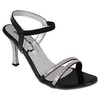 Bellafoz Black  heeled sandals