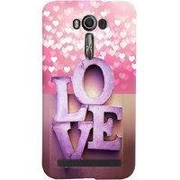 iPlus Premium  Designer Love Back Cover For ASUS ZENFONE 2 LASER ZE 550KL- D6628