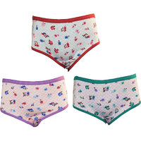 LILSUGAR GIRLS FLORAL PANTY SET OF 3
