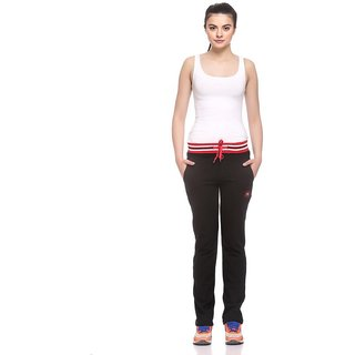 EX10SIVE Womens Black Comfortable Trackpants