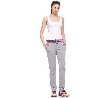 EX10SIVE Womens Grey Melange Comfortable Trackpants