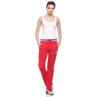 EX10SIVE Womens Red Comfortable Trackpants