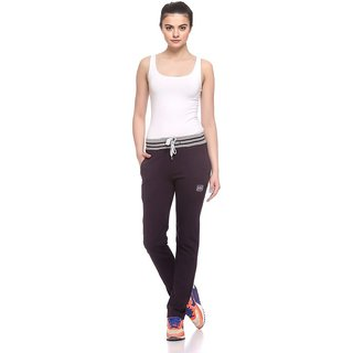 EX10SIVE Womens Wine Coloured Trackpants