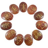 Carnelian Karuna Reiki Symbol Engraved Set (11pc)