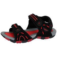 Sparx-407 Black Red Floater Sandals For Men