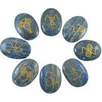 Lapis Lazuli  Karuna Reiki Symbol Engraved Set (8pc)