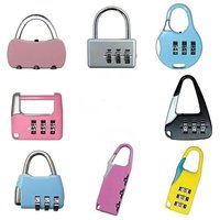Set of 3- 3 Digit Resettable code Password Number Lock Combination Bag Padlock