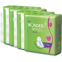 Wonder Wings Ultra Dry L Sanitary Napkins combo of 4