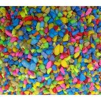 Aquarium decoration gravel stone MIXED COLOR pebbles  fish tank purpose 1 Kg med