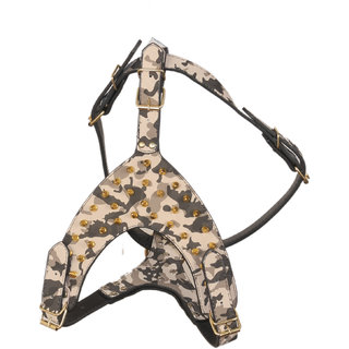 PET CLUB51 HIGH QUALITY IMPORTED LEATHER HARNESS-MEDIUM
