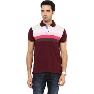 Okane Pink Half Sleeve Polo Neck Casual Wear T-shirts
