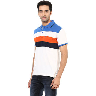 Okane Blue Half Sleeve Polo Neck Casual Wear T-shirts