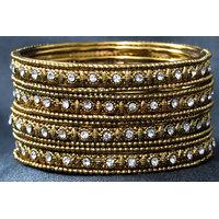 Antic copper colour 12 bangles set